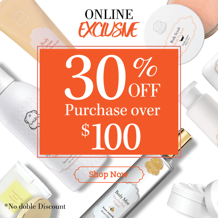 30% off on purchase over $100