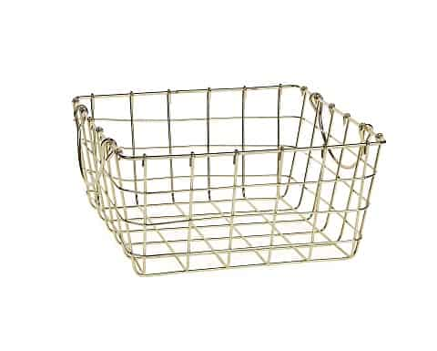 Gold Metal Basket L