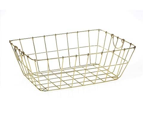 Gold Metal Basket XL