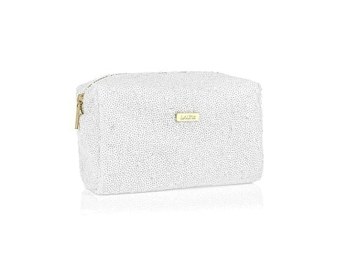White Glitter Shower Bag